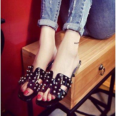 RUGAI-UE Moda de Verano Mujer sandalias casuales zapatos de tacones PU Confort,azul,US5.5 / UE36 / UK3.5 / CN35 Black