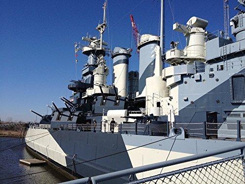 LAMINATED POSTER Navy Historic Ship Battleship North Carolina Poster Print 24 x (North Carolina Battleship)