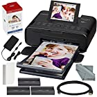 Canon SELPHY CP1300 Compact Photo Printer (Black) with WiFi and Accessory Bundle w/