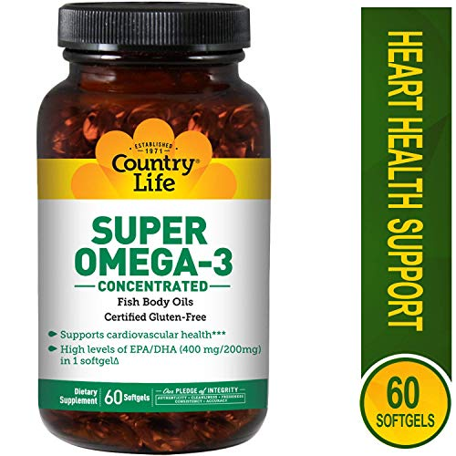 (Country Life - Super Omega-3, Concentrated - 60 Softgels)