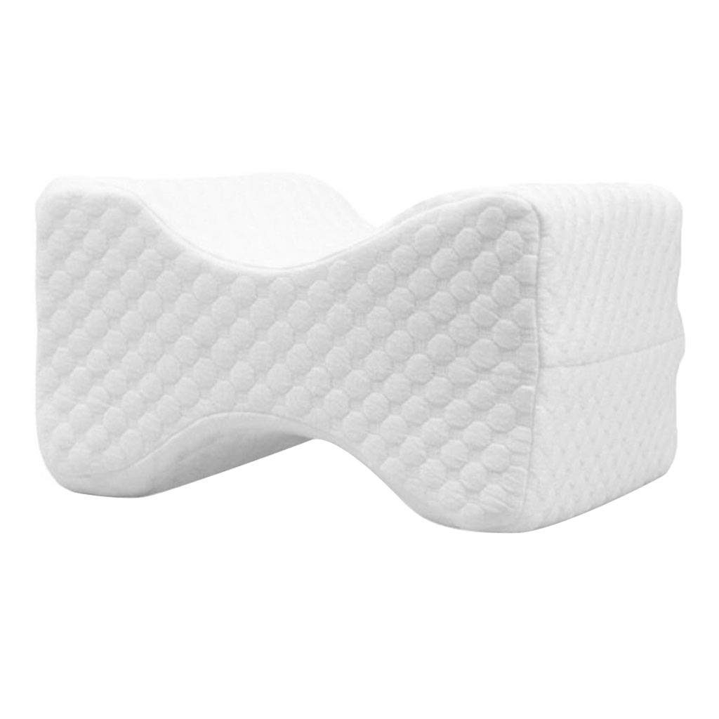 as described B Blesiya Super Comfort Memory Foam Knee Pillow Side Sleeping Leg Pillows with Removable Cover Deep Blue Grid