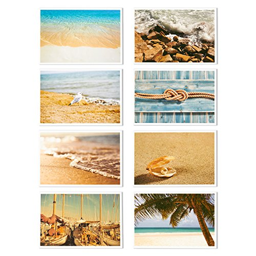 Nautical Beach Seaside Postcards - 40 Glossy Postcards - Bulk Set - Featuring Boats, Lighthouses, Sea Shells, Sand Castles - 4 x 6 Inches Photo #4
