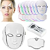 Facial Treatment Home Service - LED Photon Therapy, Frcolor Light Treatment 7 Colors Facial Beauty Skin Care Rejuvenation Phototherapy Mask Beauty Face Care for Home Use