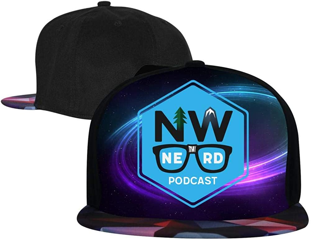 Adjustable Hip Hop Flat-Mouthed Baseball Caps NW Nerd Podcast Mens and Womens Trucker Hats