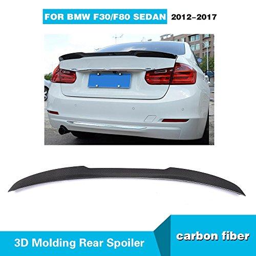 MCARCAR KIT Fits BMW 3 Series 320i 325i 335i F30 M-Sport 2012-2018 F80 M3 2014-2018 Factory CNC Moulding Carbon Fiber Top Fit Rear Trunk Wing ()
