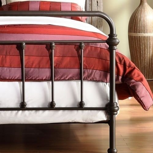 amazoncom antique finish dark bronze queen size metal bed this victorian brass bed style frame has a vintage iron look perfect for any bedroom furniture