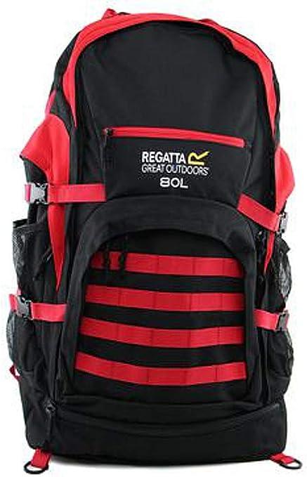 Regatta 80L Padded Travel Backpack Red