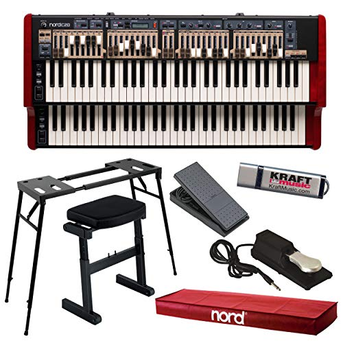 Nord C2D Combo Organ with Nord Dust Cover, Platform Stand, Z-Frame Bench, Footswitch, Expression Pedal and Flash Drive