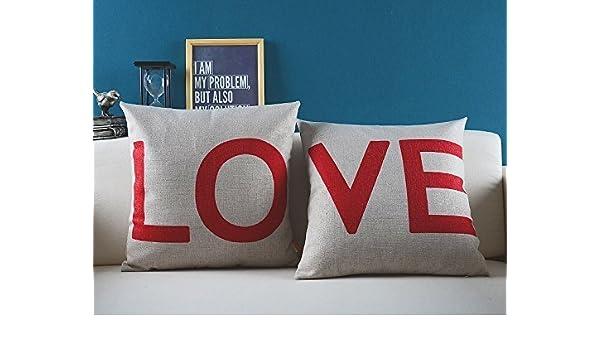 Love Funda para cojín funda de almohada - palabras cita ...
