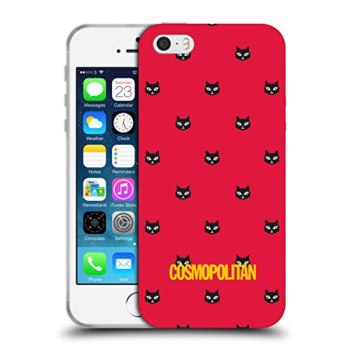 Official Cosmopolitan Red Lovey The Cat Soft Gel Case for Apple iPhone 5 / 5s / SE