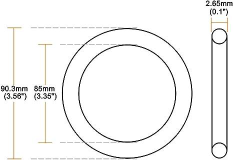 sourcing map Juntas T/óricas de Goma de Nitrilo 85mm x 90,3mm x 2,65mm Retenes juntas de estanqueidad 5pcs