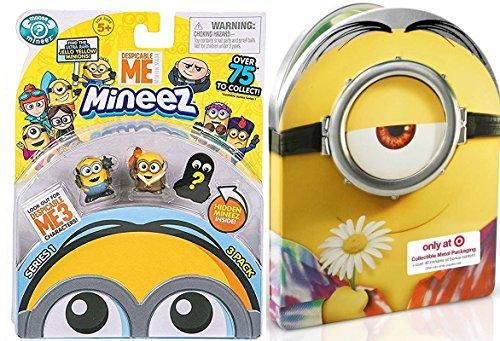 Special Mini Minions Cartoon Pack Minion Steelbook Metal DVD + Blu Ray Movie Set + 3 Shorts & Miniature Mystery Figures Exclusive Bundle