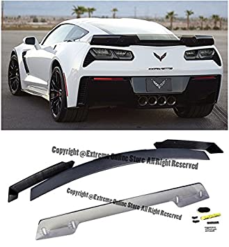 Z06u0027s Z07 Performance Stage 3 Style Rear Trunk Lid ABS Plastic 3Pcs Full  Spoiler Wing Lip