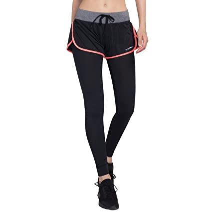 d617322488 Amazon.com: VUTRU Women 2 in 1 Athletic Workout Pants Full Length Gym  Leggings with Running Shorts: Sports & Outdoors