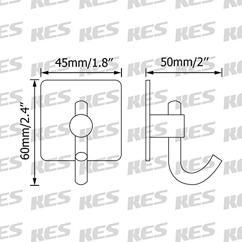 outlet KES Wall Adhesive Hooks SUS 304 Stainless Steel with 3M Self-Adhesive Strip Sticky on Hanger for Bathroom Kitchen Brushed Finish Bath Towel Coat Robe Hook, 6 Pieces, A7068-2-P6