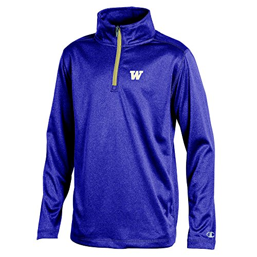 - NCAA Washington Huskies Youth Boys Lightweight Quarter Zip W Sweat Shirt, Large, Purple Heather