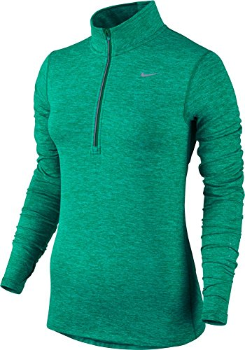 Nike Women's Dri-FIT? Element Half Zip Teal Charge/Heather/Reflective Silver T-Shirt SM