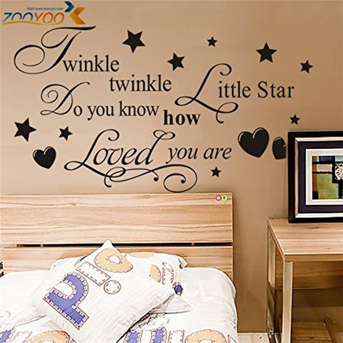 Jungle Litter (FunnyPicker Twinkle Twinkle Wall Decals Litter Star Sticker Quote Wall Arts Diy Decorative Bedroom Removable Vinyl Wall)