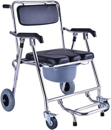 D&F Sedia da Doccia con Ruote per portatori di Handicap e