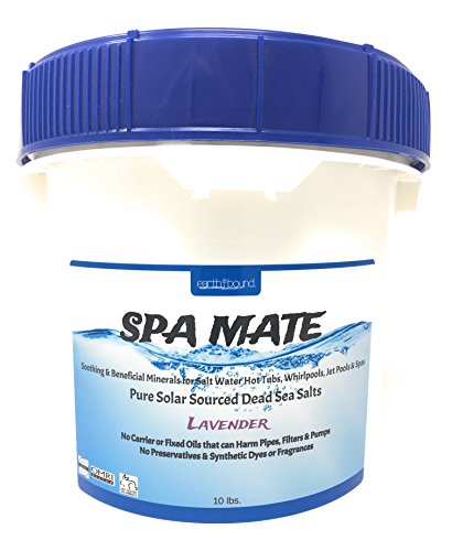 Price comparison product image Earthbound Spa Mate with Lavender / Pure Bulk Mineral Dead Sea Salts for Salt Water Spas, Whirlpools and Hot Tub Systems / Reusable Bucket with Handle / 10 Pounds