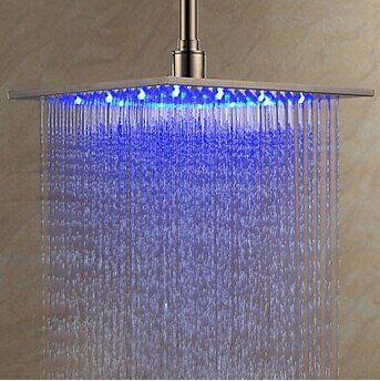 SBWYLT-Stainless steel 12-inch square led water glow temperature three color top by Bopm
