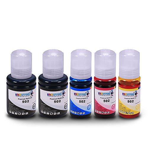 INKUTEN 5 Refill Ink Kit Ecotank for T502 Expression Eco tank ET-2700, ET-2750, ET-3700, ET-3750, ET-4750 Printers -  Epson 502, TMP-A4493