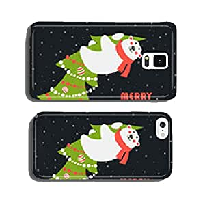 Greeting card, polar bear climbed the Christmas tree cell phone cover case iPhone6