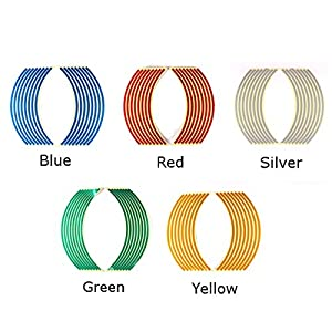 Motorcycle Decals - Motorcycle Bike Car Rim Stripe Wheel Decal Tape Sticker 6 Colors - Motorcycle Tape Reflective Wheel Decals Decal Rims Stickers Stripe - 1PCs