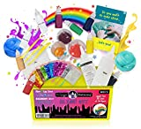 Slime Kit Supplies for Girls and Boys Ages 7+, Science Package Stuff Containers, Clay, Floam Beads, Glue, Glitter. Make Color, Clear, Rainbow, Fluffy, Instructions Included