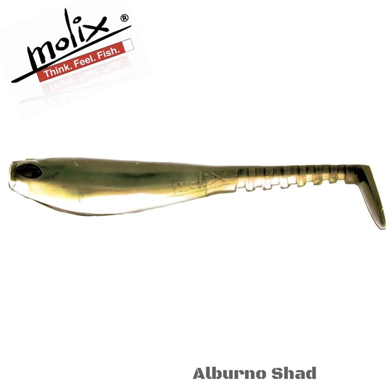14 08 Sinking by 3 Alburno Molix Vinilo MONTADO SS SHAD 5 Paquete DE 3-14