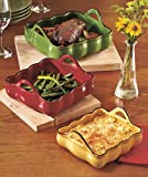 Bakeware set of 3 Handled Bakers Stoneware Oven Cookware Casseroles Multi-Color