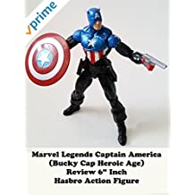 """Review: Marvel Legends Captain America (Bucky Cap Heroic Age) Review 6"""" Inch Hasbro Action Figure"""