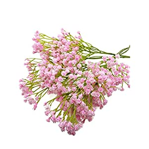 "Floral Kingdom Artificial 26"" Baby's Breath Flowers for Floral Arrangements, Bouquets, Home, Office Decor (Pack of 5) 1"
