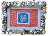 "Product review for Snowmen & Snowflakes Winter Themed Photo, Picture Frame, Multi-Colored, Handcrafted From Recycled Vintage Jewelry, Holds 5"" x 7"" or 4"" x 6"" Picture, Hang on Wall or Stand Alone, #846"