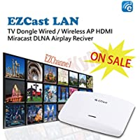 EZCast LAN High Speed WiFi/Ethernet Display Box HDMI Media Streaming Box AirPlay Miracast