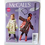 McCalls M6692 Girls Coat Raincoat with Hood Sewing Pattern New Uncut 6 7 8