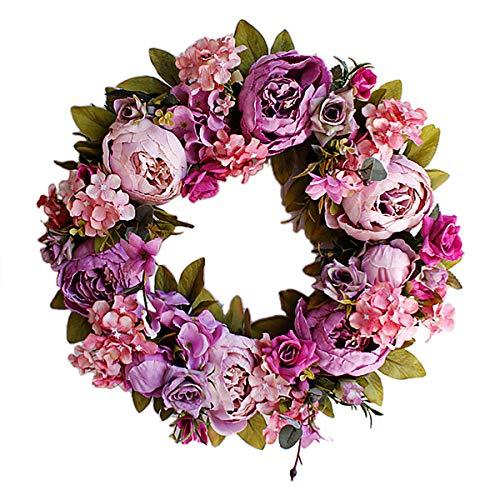 Artificial Flower Wreath Peony Wreath 16
