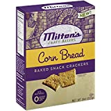 Miltons Corn Bread Baked Snack Crackers 8 Ounce (Pack of 6)