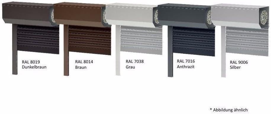 wei/ß 39er Lamelle Vorbaurollladen SK45 Aluminium BxH: 100x130 cm Sonderma/ße m/öglich Gurt