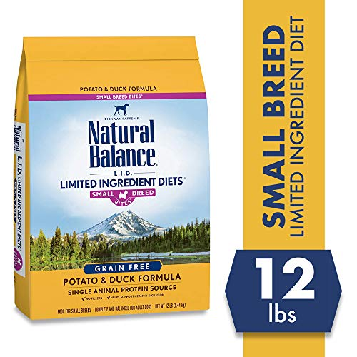 Natural Balance Limited Ingredient Diets, Potato & Duck Formula Dry Dog Food for Small Breeds, 12 Pounds, Grain Free (Mr Sweet Potato)