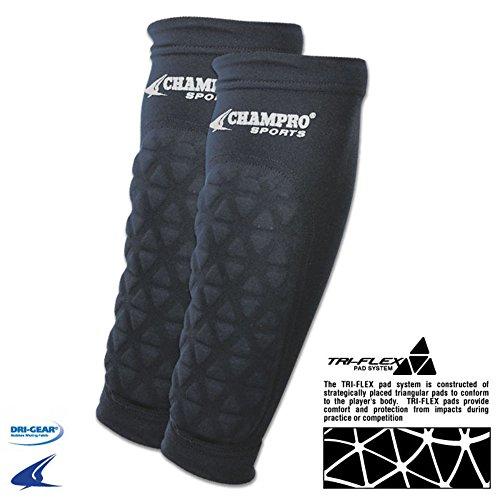 Champro Football Baseball Forearm Sleeve tri-Flex pads pair Adult FCFP FCFP2 ADULT Black VARSITY (Football Forearm Pad)