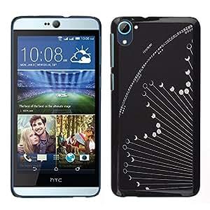 HTC Desire 826 dual Único Patrón Plástico Duro Fundas Cover Cubre Hard Case Cover - Phase Hososcope Grey Astronomy