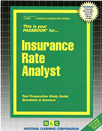 Insurance Rate Analyst (Passbooks) (Career Series (Natl Learning Corp)) Pdf