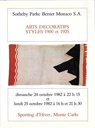 Sotheby Parke Bernet Monaco S.A.: Arts Decoratifs Styles 1900 et 1925; Sporting d