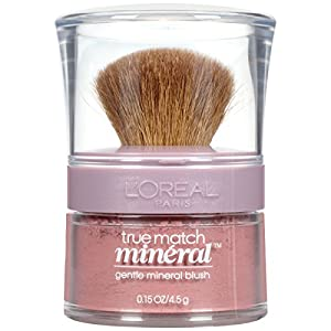 L'Oréal Paris Makeup True Match Loose Powder Natural Mineral Blush, Soft Rose, 0.15 oz.