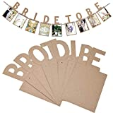 Samoii Photo Wall Decortion Wedding Photo Banner Bride to Be Love Wedding Photo Clip Romantic Memories for Wedding Party Decoration 【Brown 】
