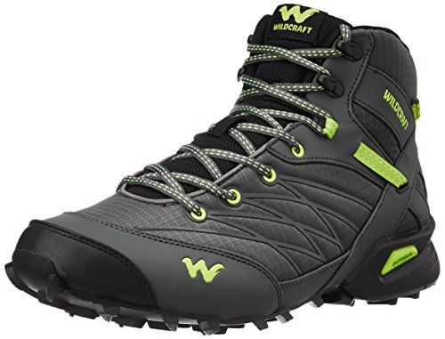 Wildcraft Men's Hugo Black and Green Trail Running Shoes - 11...