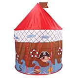 PIGLOO Ship Theme Pop Up Play Tent House for Kids Ages 3+ Years, 105 x 135 cm, 1 Piece