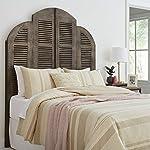 Amazon Brand – Stone & Beam Lyla Rustic Slat Bed Headboard - Queen, 64 Inch, China Gray
