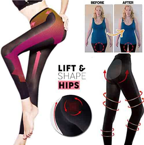 234c187d24 2019 Colorcasa Sculpting Sleep Leg Shaper New Sexy Pants Legging Socks  Women Body Shaper Black